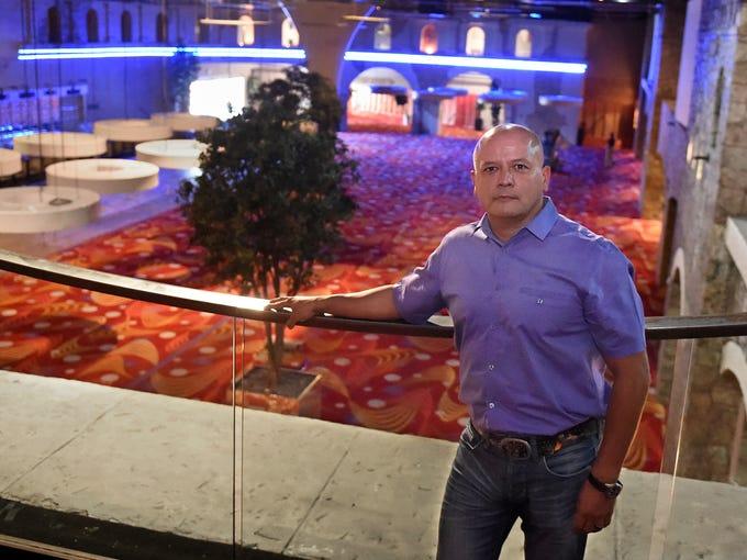 Reno developer Fernando Leal stands on the second flood