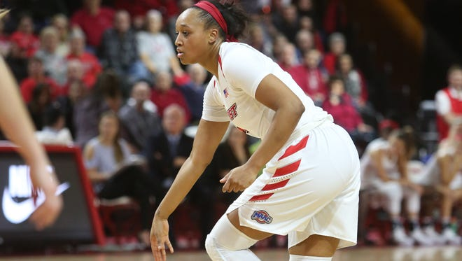 Marist College's Alana Gilmer looks to make a move against Fairfield on Jan. 13.