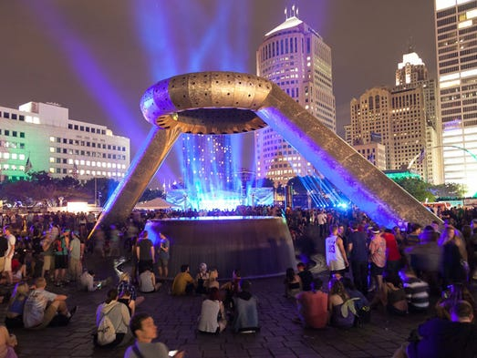 Movement festival at Hart Plaza in Detroit on Saturday,