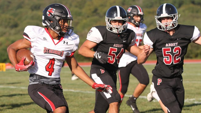 Because of the coronavirus pandemic, Portsmouth Abbey and St. George's won't be meeting on the gridiron this fall. Both schools have eliminated outside competition for the opening semester.