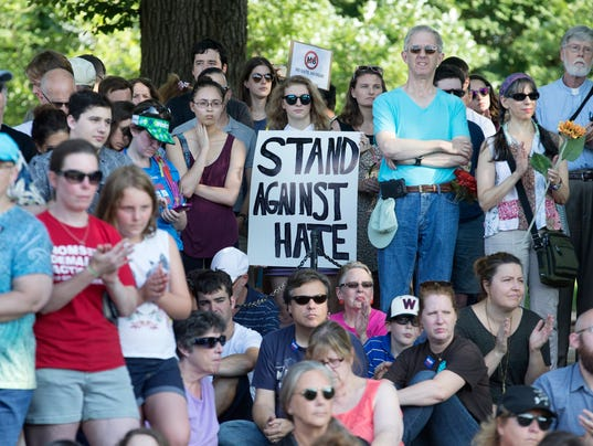 Rally to show solidarity against the violence that took place in Charlottesville, Virginia
