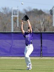 Wylie right fielder Wyatt Wink (7) looks in a fly ball