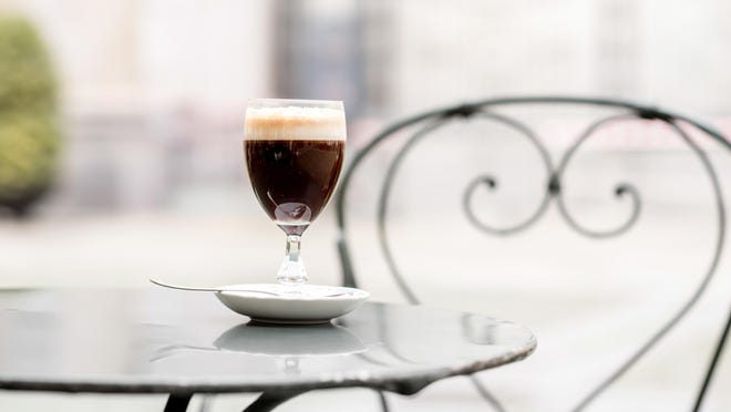 Bicerin is a traditional Italian coffee made of espresso, chocolate and whole milk served layered in a rounded glass. The drink was invented in Turin, Italy.