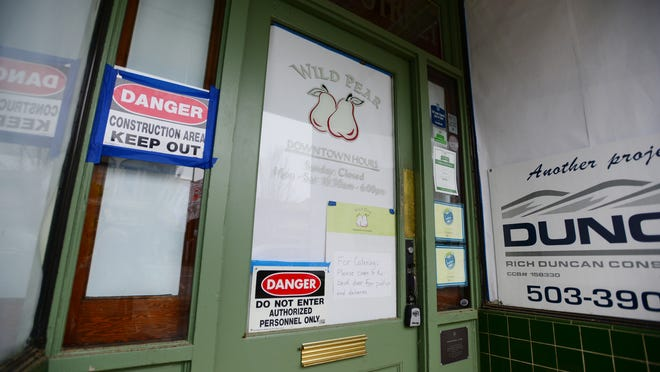 The Wild Pear in downtown Salem has been closed since Oct. 3, after a burst water-line valve in the apartment above the restaurant caused extensive damage to the historic building.