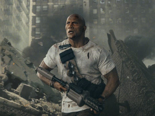 Dwayne Johnson is saving the world again in 'Rampage.'