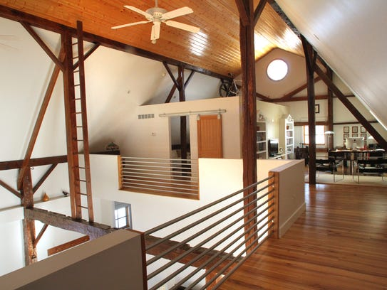 The spacious 1,100 sq ft second floor features high