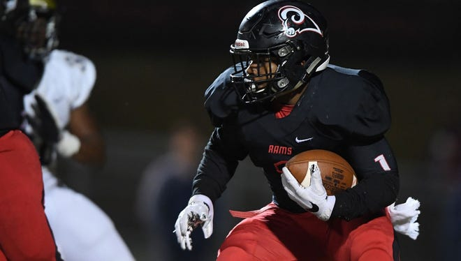 Collin Whitfield leads Hillcrest with 693 yards rushing. Whitfield and the Rams will host Gafffney in a Class AAAAA third-round playoff game Friday night.