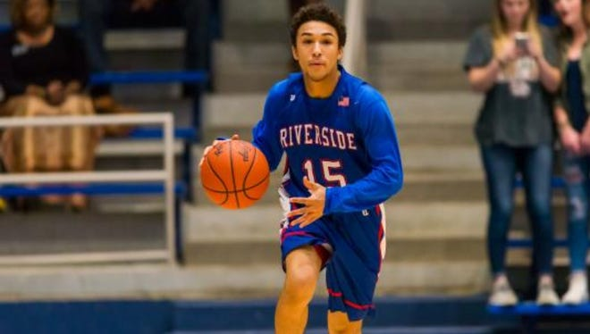 Junior point guard Landon Shaw is one of three returning starters for Riverside, which is off to an 8-4 start.