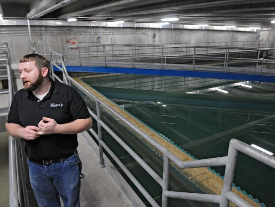 Water Services Specialist Adam Bourassa describes processes