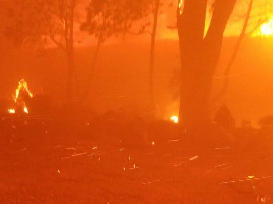 California Wildfire Family Burned