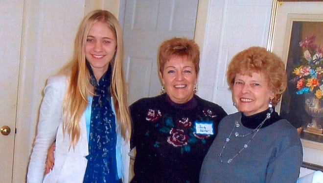 (From left) Sara Penka; Sandy Walter, chairman of the Millville Woman's Club Education and Youth Committee; and Barbara Scudder, the club's first vice president.