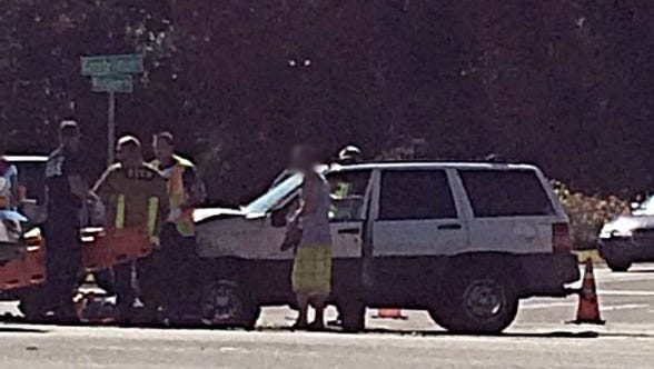 Two people were transported in a crash that occurred on Wickham Road near Constellation Drive on Thursday, according to Brevard County Fire Rescue.
