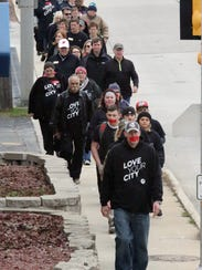 About 50 people participated in the Walk for Freedom