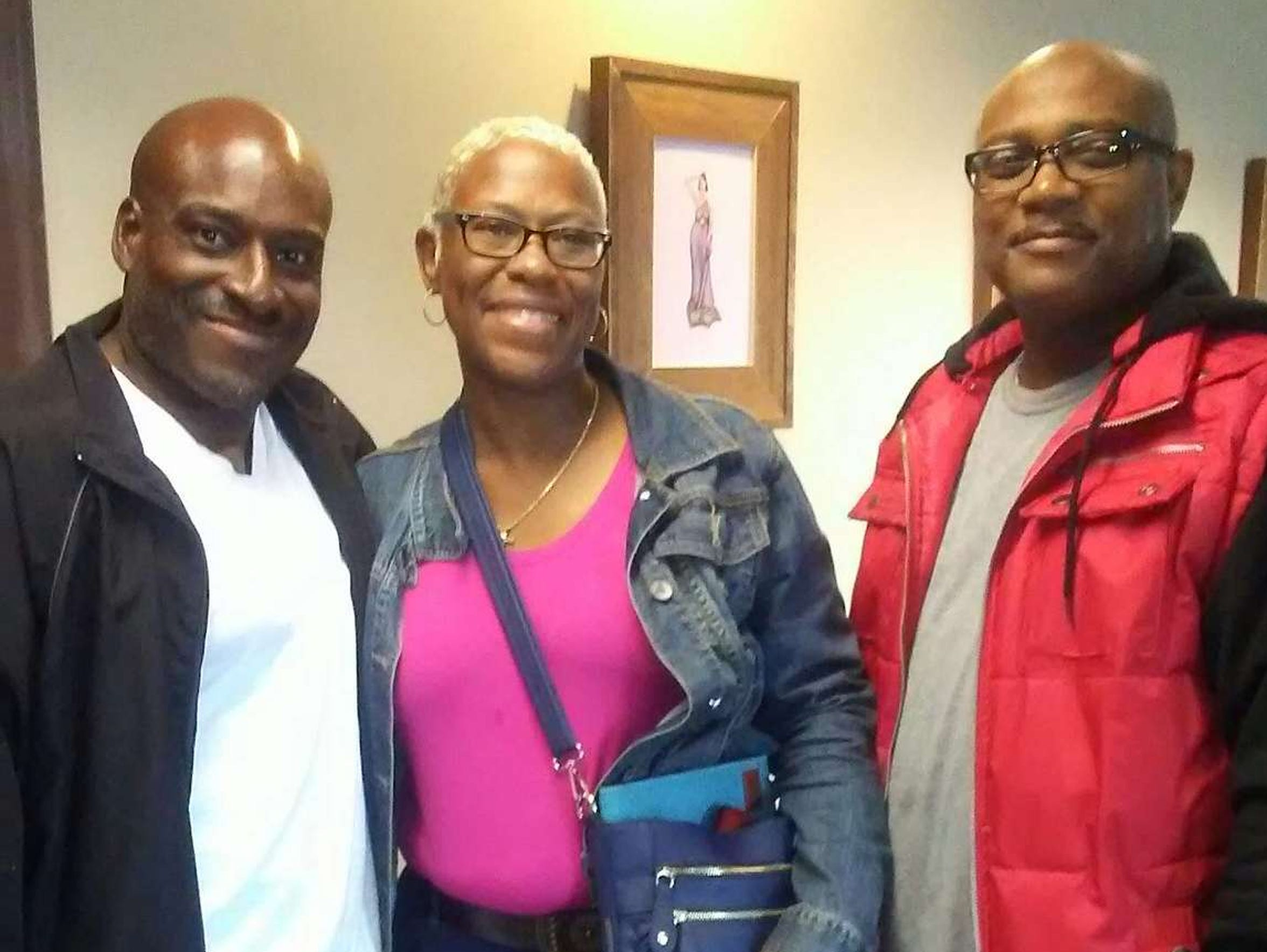 Bobby Hines, Valencia Warren-Gibbs and Michael Gibbs