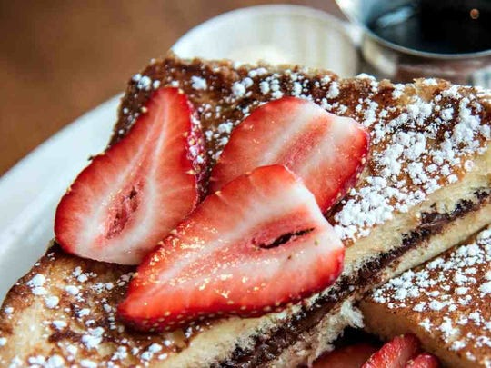 Nutella-stuffed French toast at Toast, which has locations in Asbury Park and Red Bank.