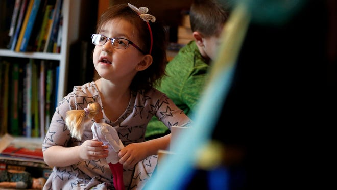 Gabriella Laubisch, age 5, of Apalachin, was first diagnosed with Acute Myelogenous Leukemia in August 2014 and underwent several long hospitalizations before receiving a bone marrow transplant in 2016.