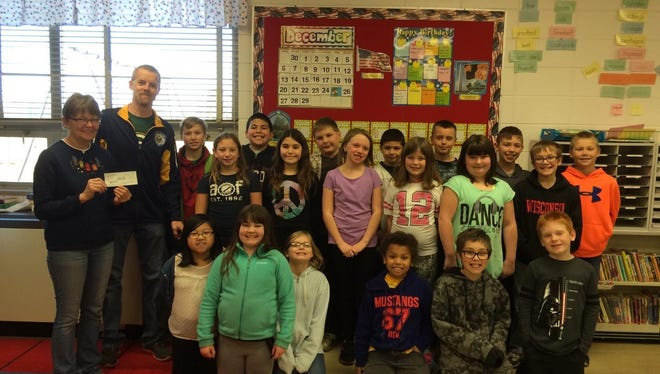 Mrs. Weiler's fourth-grade class at Magee Elementary School recently raised $103 as a class for a penny drive. In all, Magee students raised $768.10.