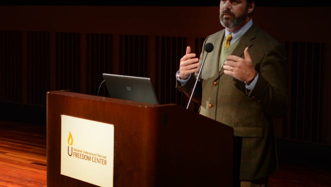 Reds Chief Operating Officer Phil Castellini and numerous community leaders from around Greater Cincinnati contributed remarks during a the Black History Month Community Forum on Economics held Wednesday at the National Underground Railroad Freedom Center.