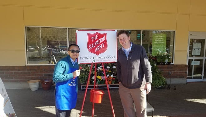 Members of the Rotary Club of Tallahassee participated in the Salvation Army's Red Kettle Campaign this year.