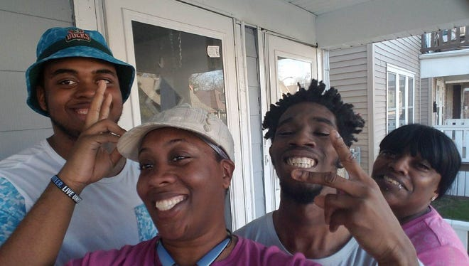 Milwaukee police are seeking Antonio Matthews, (second person from the right) a missing developmentally delayed man. Matthews, 22, was last seen April 6.