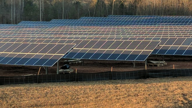 Glen Raven uses 3,076 solar panels to power the lighting at is Anderson manufacturing plant.