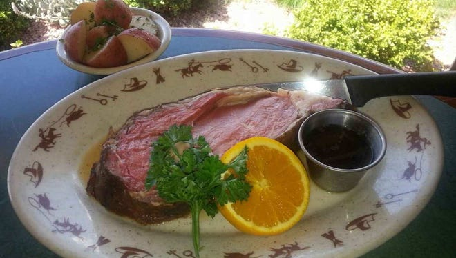 The prime rib menu selection from the Boulder Junction Charcoal Grill in Brookfield.