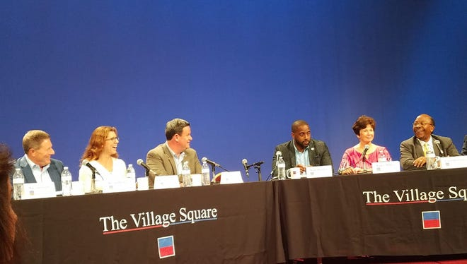 Leon County and City of Tallahassee elected officials answer questions at Thursday's annual Village Square Town Hall