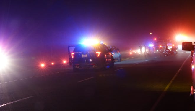 A pedestrian was hit and killed by a vehicle Sunday night on Pacific Coast Highway near the county line.