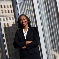 Portrait of Tamika Montgomery-Reeves, who last week was confirmed to replace Vice Chancellor Donald F. Parsons, Jr. on Delaware's Court of Chancery, the leading business court that helps maintain Delaware's status as a top legal home for U.S. corporations. Montgomery-Reeves grew up in Jackson, Mississippi, and worked her way up to one of the most important courts in the country.