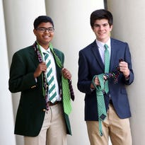Shreyas Parab, 15, and his classmate Joe DiGregorio, 15, both sophomores at Archmere Academy, have collaborated efforts to creat a business of selling novelty ties including the packaging. Parab is the design expert and CEO of NovelTie and DiGregorio, is the director of sales.