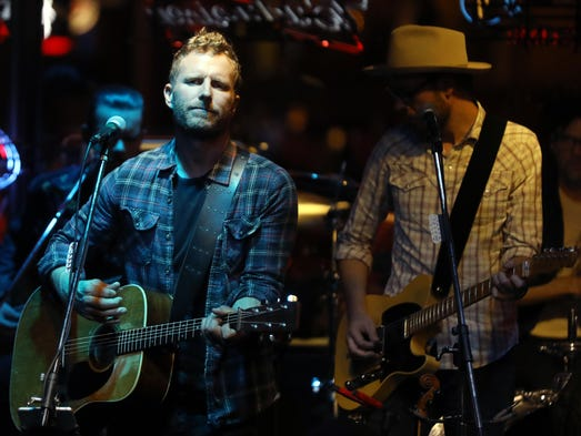 Dierks Bentley performs at Legends on Lower Broadway