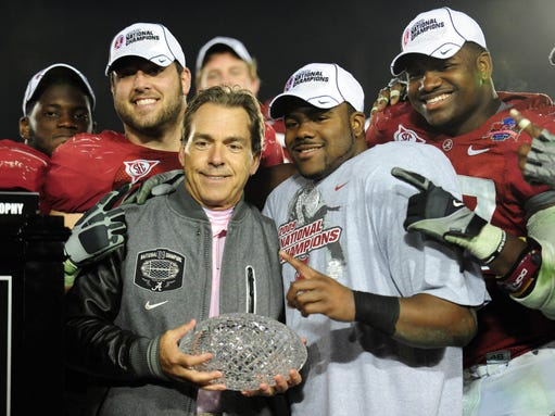 USP NCAA Football_ BCS National Championship-Alabama vs Texas