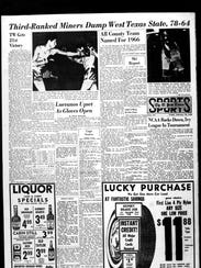 Sports front from Feb. 24, 1966.