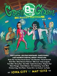 A poster for the 2017 Green Gravel Comedy Festival
