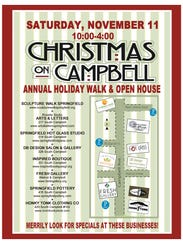 Christmas on Campbell is set for Saturday, Nov. 11.