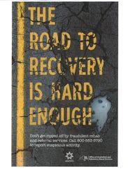 Public-health campaign poster about addiction treatment
