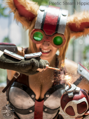 Poetic Steam Hippie is one of many professional cosplayers