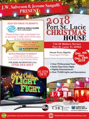 The 2018 Port St. Lucie Christmas House is Dec. 4-18
