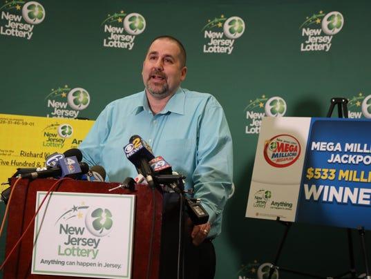 NJ Mega Millions $533 million lottery winner Richard Wahl of Vernon NJ