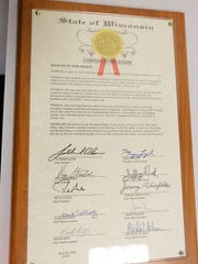 A State of Wisconsin Citation from the Senate was given