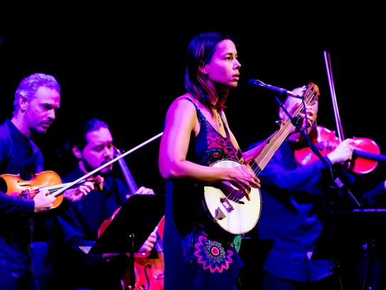 Rhiannon Giddens performs at the Big Ears Festival