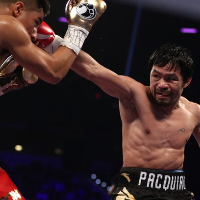 Manny Pacquiao and Jessie Vargas face off Saturday.