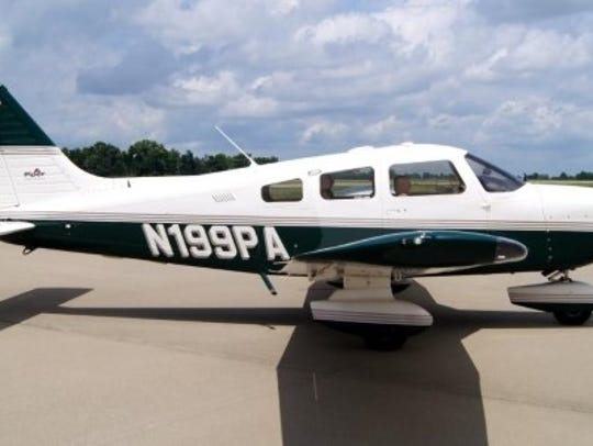 The Piper plane from the Fort Myers Flying Club that