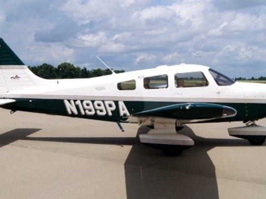 The Piper plane from the Fort Myers Flying Club that crashed on take off on Saturday injuring the pilot and killing a passenger.