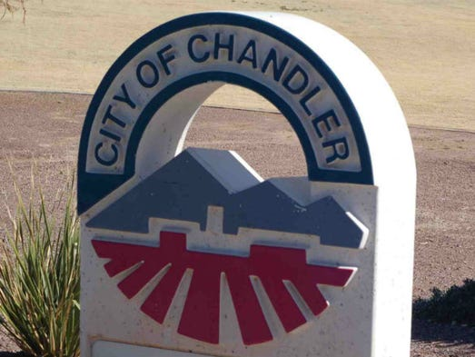 City of Chandler sign.