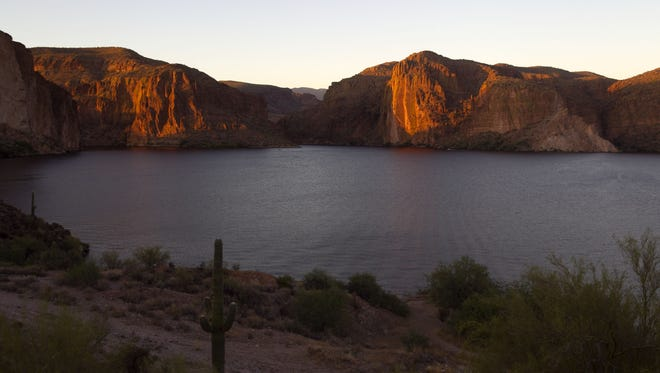 Canyon Lake, Apache Trail | The most scenic of the Salt River-fed lakes, Canyon abounds with the steep walls and cliffs its name suggests. The beauty more than makes up for its comparatively small size. Rent anything from a speedboat to a kayak to enjoy 950 surface acres of watery goodness. When ready for a break, pick a spot along the 28 miles of shoreline and enjoy picnic, or stop at the Lakeside Restaurant and Cantina for a casual meal. | Details: www.canyonlakemarina.com.