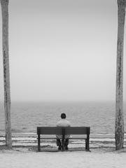 Lone Man by Roger Raepple, who is having a photo exhibit