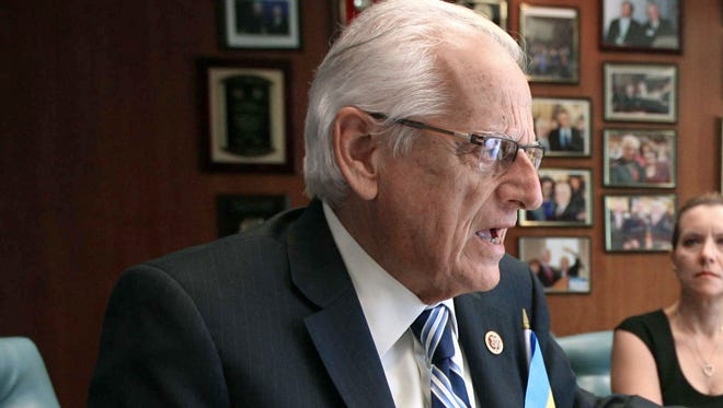 Congressman Bill Pascrell Jr. meets with constituents in Paterson, N.J., on Sept. 4, 2014.