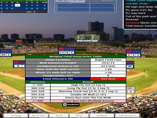 A screenshot of Carlos Santana's 459-foot home run