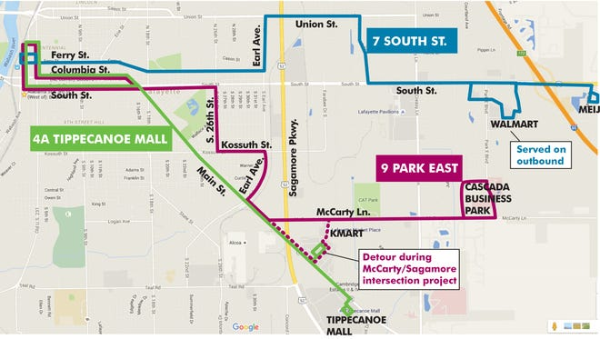 CityBus' new route 9 Park East will begin service July 5.